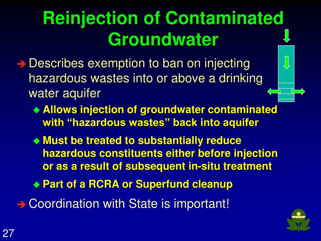 Reinjection of Contaminated Groundwater