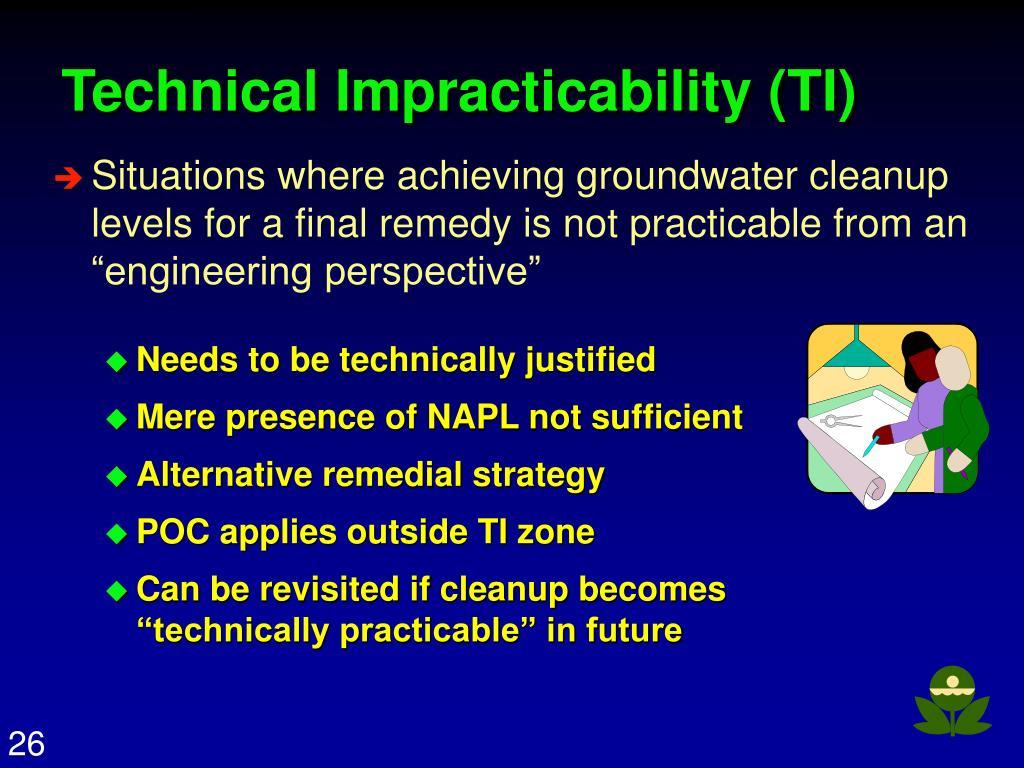 Technical Impracticability (TI)