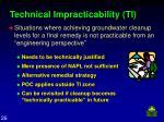 technical impracticability ti