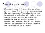 assessing group work15