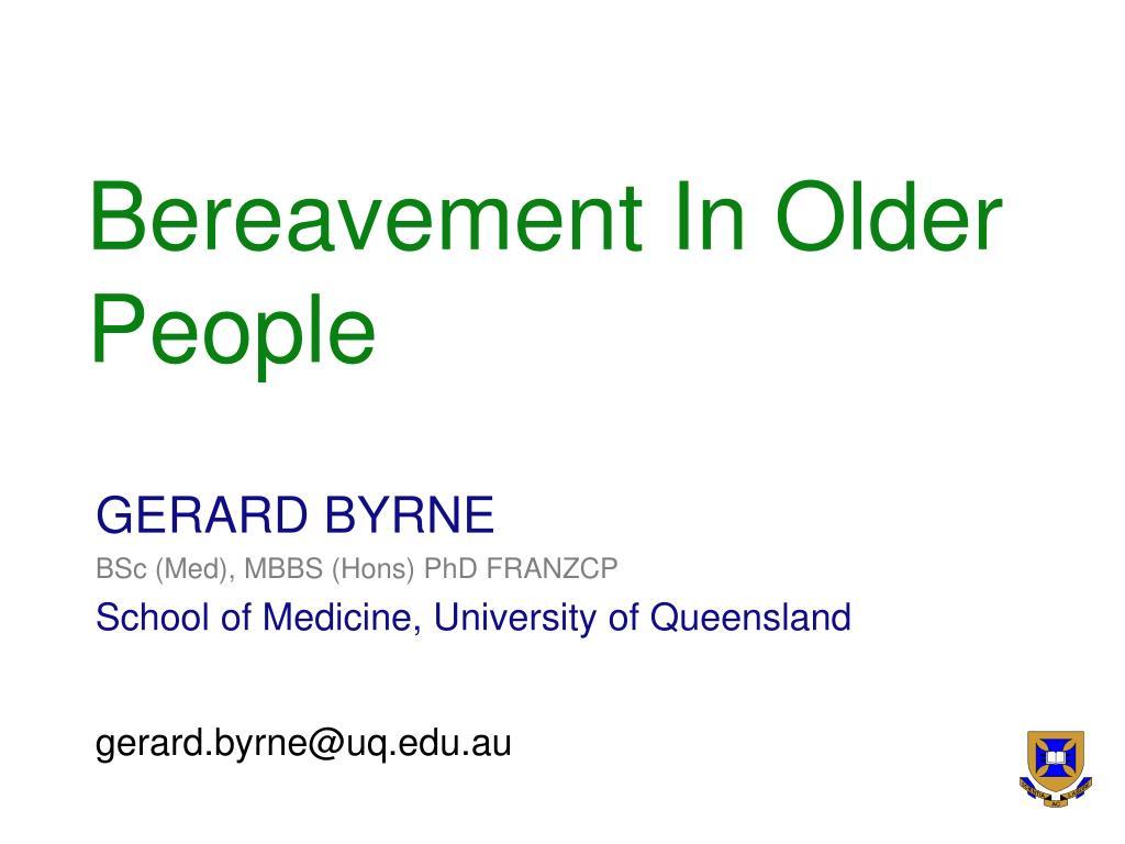 bereavement in older people l.