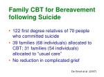 family cbt for bereavement following suicide