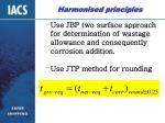 harmonised principles