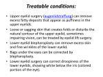 treatable conditions