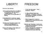 liberty freedom