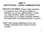 unit 2 institutional social communication2