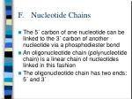 f nucleotide chains