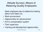 attitude surveys means of retaining quality employees