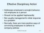 effective disciplinary action