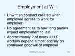 employment at will