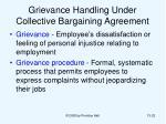 grievance handling under collective bargaining agreement