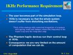 1khz performance requirement