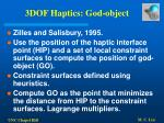 3dof haptics god object