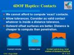 6dof haptics contacts
