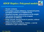 6dof haptics polygonal models61
