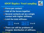 6dof haptics voxel sampling52