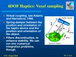 6dof haptics voxel sampling55