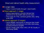 direct and indirect health utility measurement