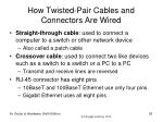 how twisted pair cables and connectors are wired