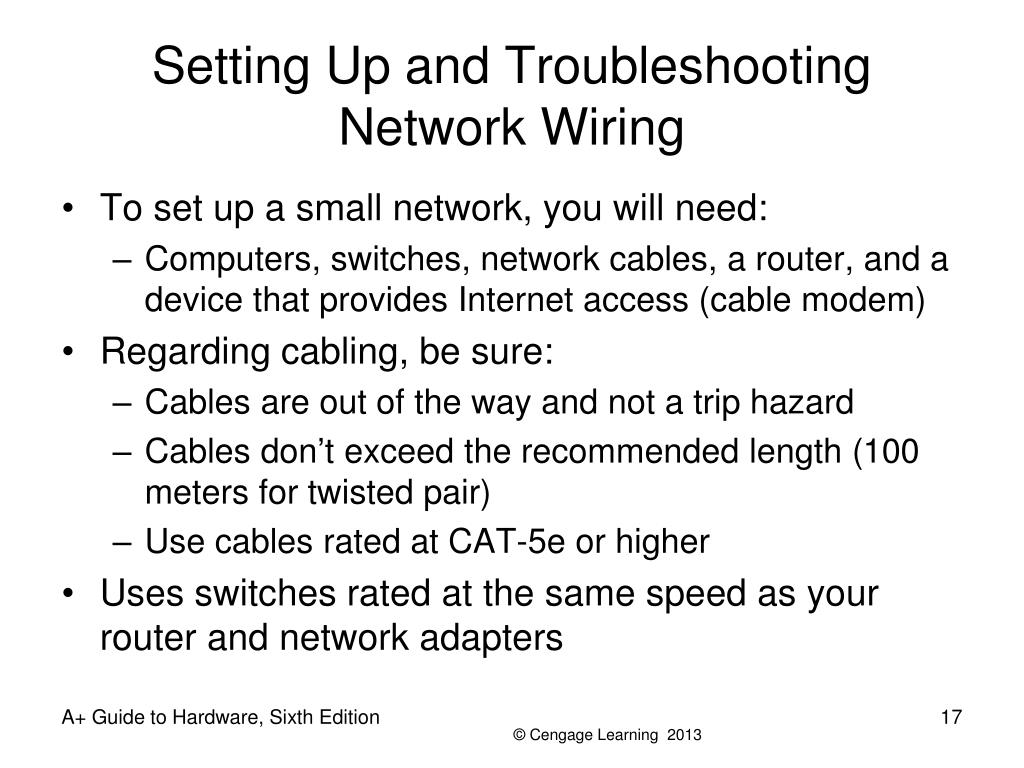 Setting Up and Troubleshooting Network Wiring
