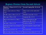 rapture distinct from second advent