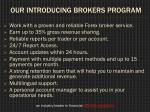 our introducing brokers program