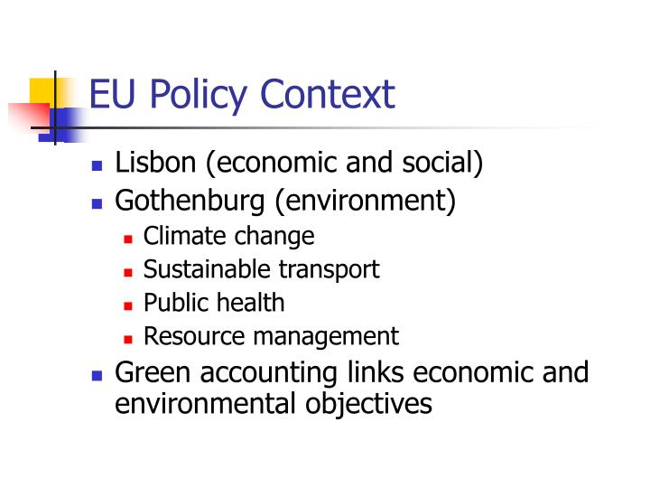 Eu policy context