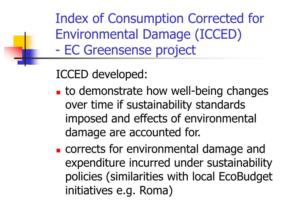 Index of Consumption Corrected for