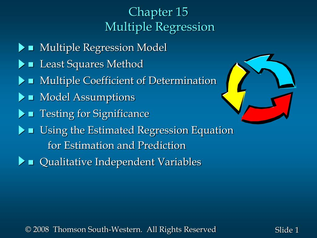 chapter 15 multiple regression l.