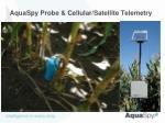 aquaspy probe cellular satellite telemetry