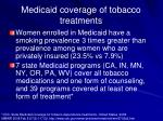 medicaid coverage of tobacco treatments