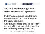 dsic ws methodology the problem scenario approach