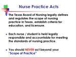 nurse practice acts