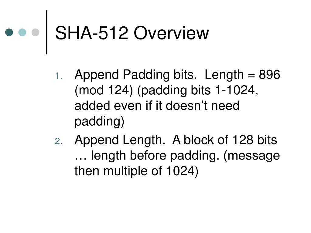 SHA-512 Overview