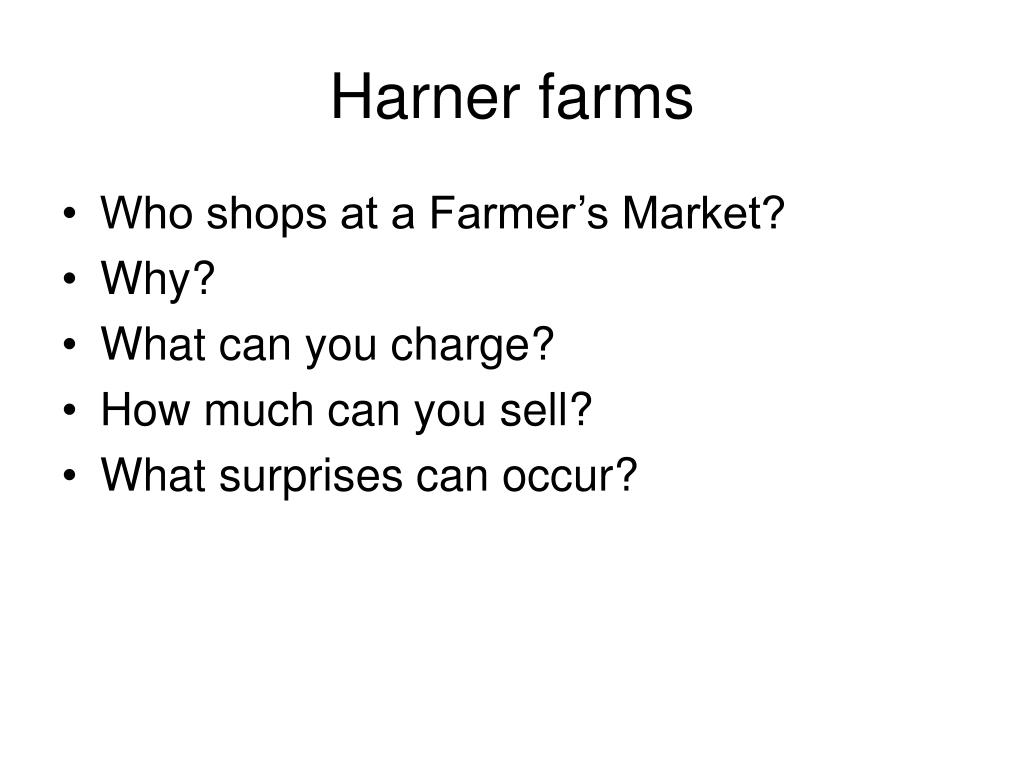 Harner farms