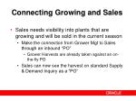 connecting growing and sales