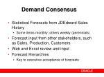 demand consensus