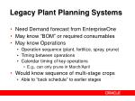 legacy plant planning systems