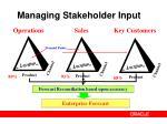 managing stakeholder input