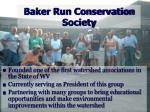 baker run conservation society