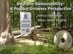 on farm sustainability a poultry growers perspective