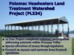 potomac headwaters land treatment watershed project pl534