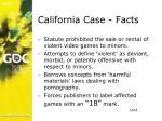 california case facts