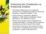 protecting the constitution vs protecting children