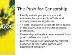 the push for censorship