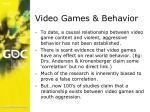 video games behavior