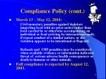compliance policy cont