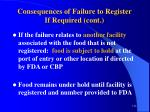 consequences of failure to register if required cont112