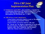 fda cbp joint implementation plan
