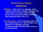 fda s prior notice definitions77